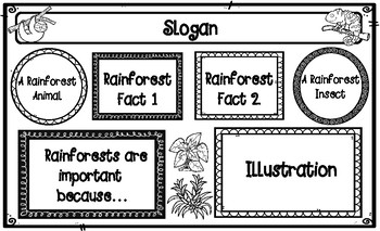 Rainforest Legal-Sized Poster Project