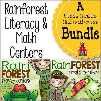 Rainforest Literacy and Math Centers Bundle