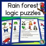 Rainforest Logic Puzzles