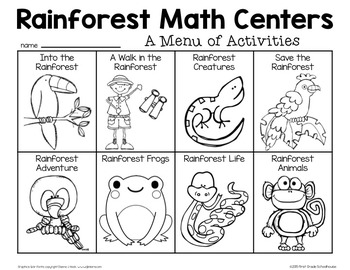 Rainforest Math Centers