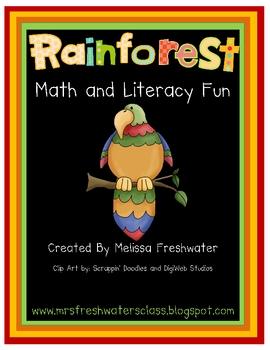 Rainforest Math and Literacy Fun