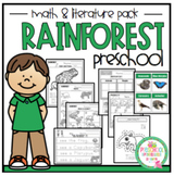 "Rainforest Math and Literature ""No Prep"""