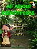Rainforest Mega Unit - Booklets, Close Reads, Comprehensio