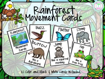 Rainforest Movement Cards/Brain Break