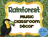 Rainforest Music Classroom Decor Bundle