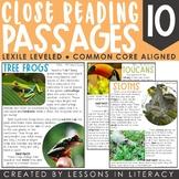 Rainforest Close Reading