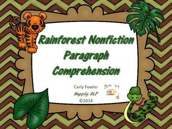 Rainforest Nonfiction Paragraphs