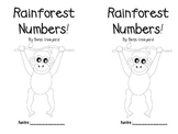 Rainforest Number Book  FREEBIE