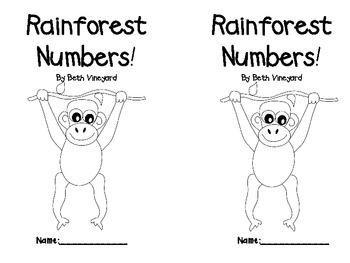Rainforest Number Book  FREEBIE
