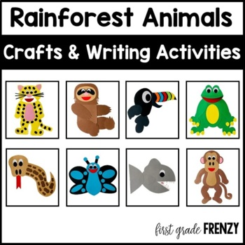 Rainforest Animal Crafts By First Grade Frenzy Tpt
