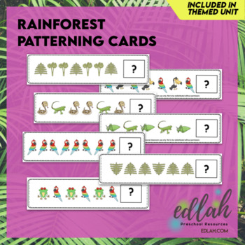 Rainforest Patterning Cards