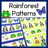 Rainforest Animal Patterns Math Centers with AB, ABC & ABB Patterns