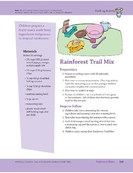 Rainforest Plants: Art and Cooking Activities