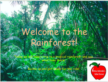 rainforest powerpoint by miss michelle s mini corner tpt