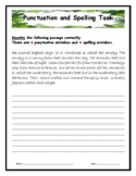 Rainforest Punctuation, Spelling and Vocabulary Worksheets
