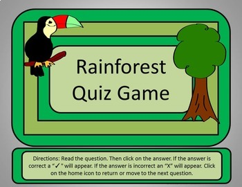 Rainforest Quiz Game - Power Point