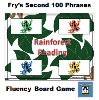 Rainforest Reading - Fry's 2nd 100 Common Phrases Fluency Game