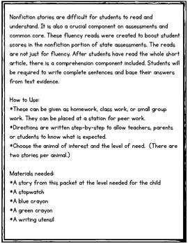 Rainforest Reads-A Nonfiction Approach to Fluency