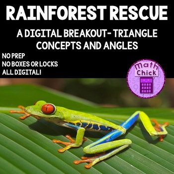 Rainforest Rescue Digital Breakout about Triangle Concepts & Angles Escape Room