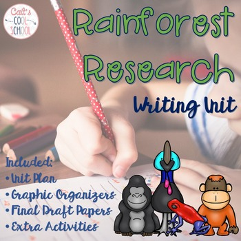 Rainforest Research Informative Writing Unit