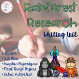 Rainforest Animals Research Informative Writing Unit