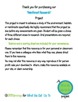 Rainforest Research Project