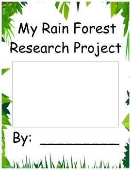 Rainforest Research Project Book