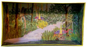 Rainforest Shoebox Diorama Background