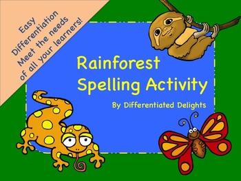 Rainforest Spelling