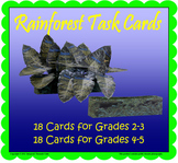 Rainforest Task Cards (Included in Rainforest: Map Mural Minimuseum)