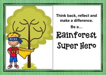 Rainforest Super Hero Activity Sheet