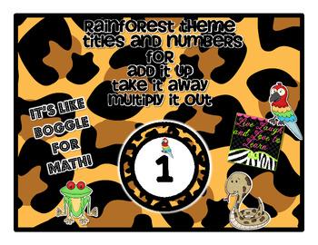 Rainforest Theme Add it Up!!