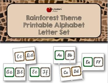Rainforest Theme Alphabet Letter Set