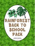 Back to School - Rainforest