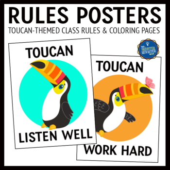 Rainforest Theme Class Rules Posters