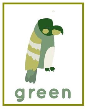 Rainforest Theme - Colors Poster Set