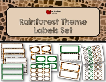 Rainforest Theme Labels Set- Editable
