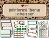 Rainforest Theme Labels Set- Editable