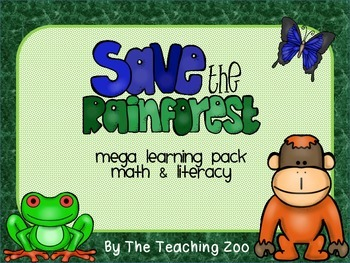Rainforest Theme Learning Pack