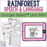 Rainforest Theme NO PREP Speech Therapy Activities!
