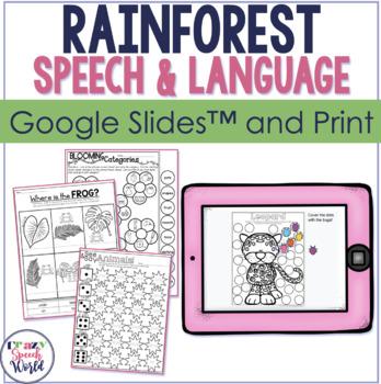 Rainforest Theme NO PREP Speech Therapy Activities!
