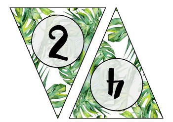 Rainforest Theme Skip Counting Bunting - Skip Count by 2s