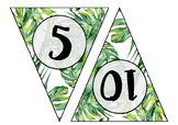 Rainforest Theme Skip Counting Bunting - Skip Count by 5s