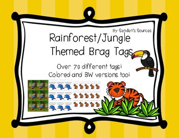Rainforest Themed Brag Tags! Over 70 Ways to Reward Kids!