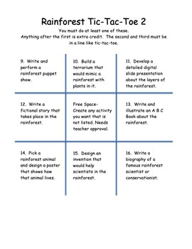 Rainforest Tic-Tac-Toe Review Projects