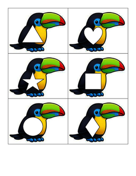 Rainforest Toucan Shape Match
