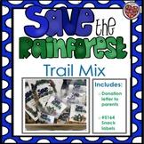 Rainforest Trail Mix: Editable Labels and Donation Request Letter for Parens
