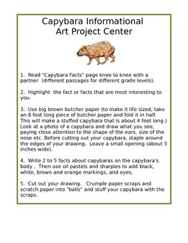 Rainforest Unit- Capybara Animal Study- NGSS and CCSS Aligned