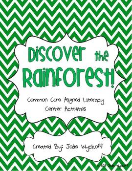 Rainforest Unit Literacy Center Pack-Common Core