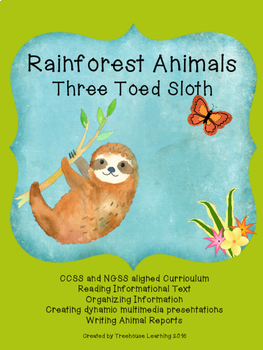 Rainforest Unit:  Three Toed Sloth